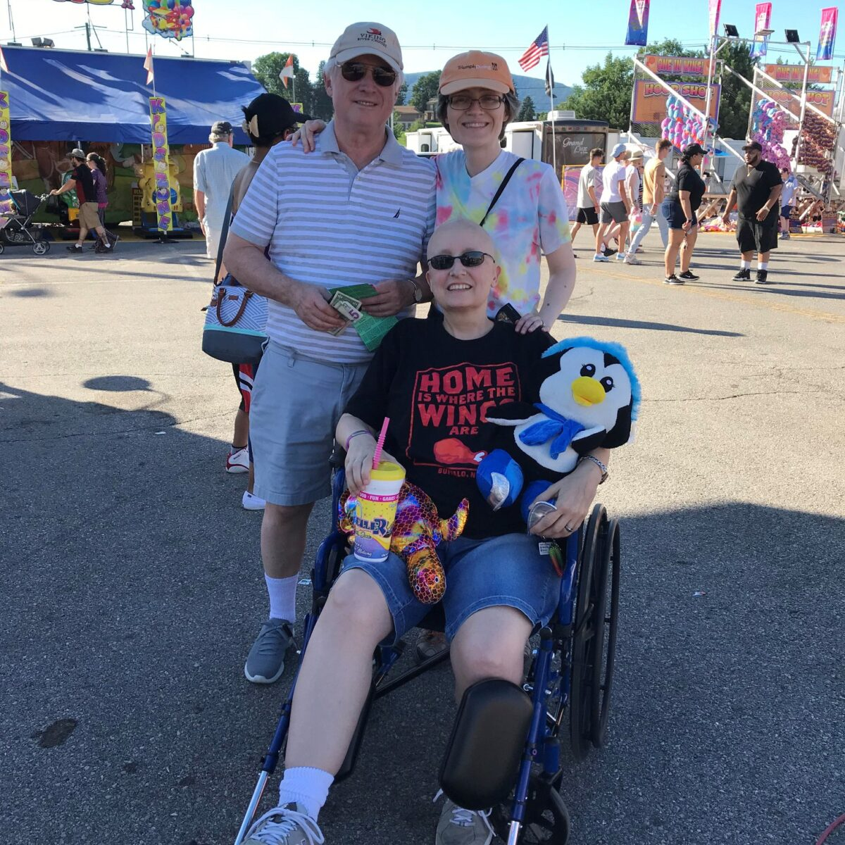 Salem Fair 2018 - Dad (Dana), Amanda, Teresa