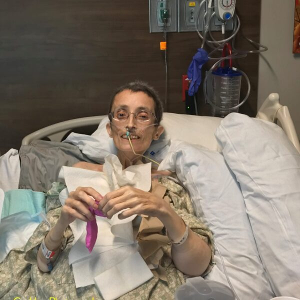 Teresa, January 18, 2019 - Five Days Before Death, Working with the clay from Physical Therapy.